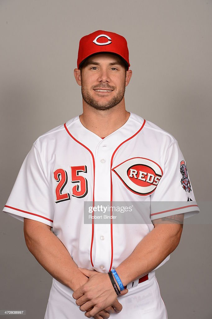 Skip Schumaker of the Cincinnati Reds poses during Photo Day on Thursday February 20 2014 at Goodyear Ballpark in Goodyear Arizona