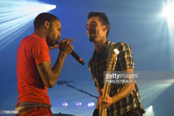 Skip The Use perform at Solidays on June 24 2011 in Paris France