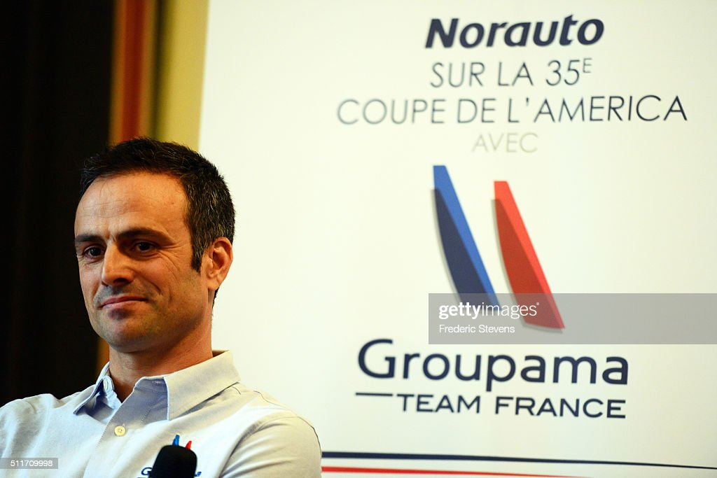 Skipper <a gi-track='captionPersonalityLinkClicked' href=/galleries/search?phrase=Franck+Cammas&family=editorial&specificpeople=773410 ng-click='$event.stopPropagation()'>Franck Cammas</a> attends the Groupama Team France unveiling of their new partner, Norauto France, on February 22, 2016 in Paris, France. Norauto France, a specialist in the repair, maintenance and automotive equipment will be alongside the French team led by skipper <a gi-track='captionPersonalityLinkClicked' href=/galleries/search?phrase=Franck+Cammas&family=editorial&specificpeople=773410 ng-click='$event.stopPropagation()'>Franck Cammas</a> for next the America's Cup.