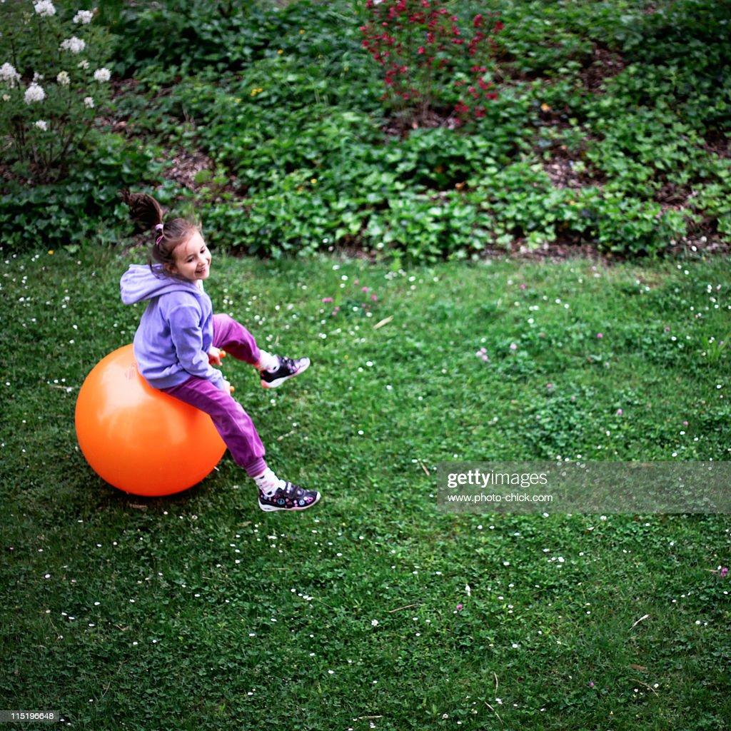 Skipping ball : Stock Photo