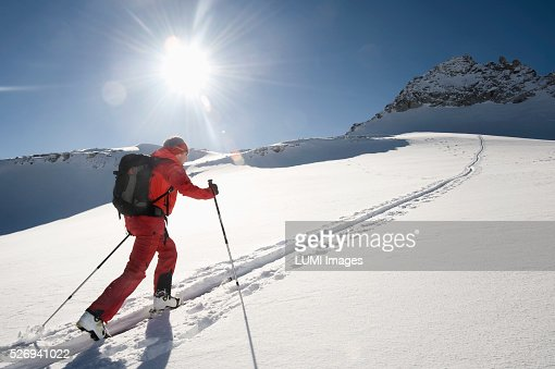 Skitour, Weissenseegletscher, Salzburg, Austria : Bildbanksbilder