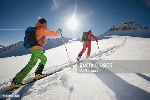 Skitour, Weissenseegletscher, Salzburg, Austria : Stockfoto