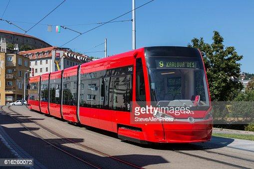 Skoda 30T Tram - Bratislava - Slovakia : Stock Photo