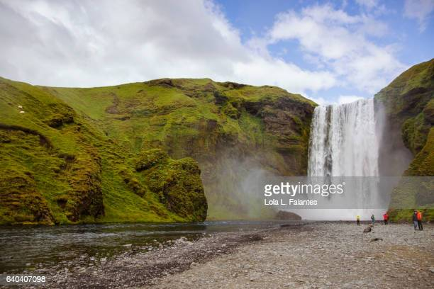 Skogafoss and Skoga river, Iceland