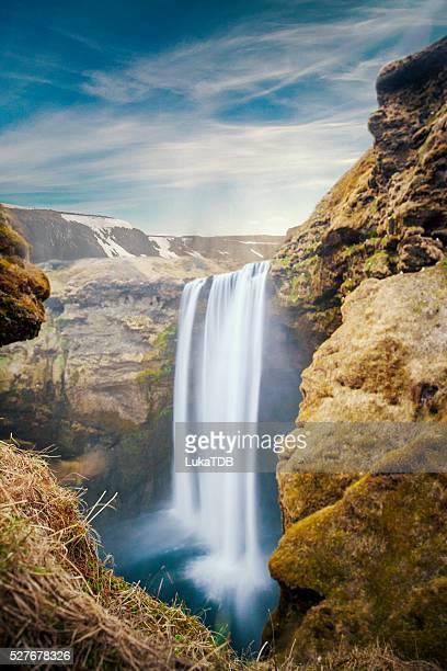 Skogafoss-Wasserfall in Island