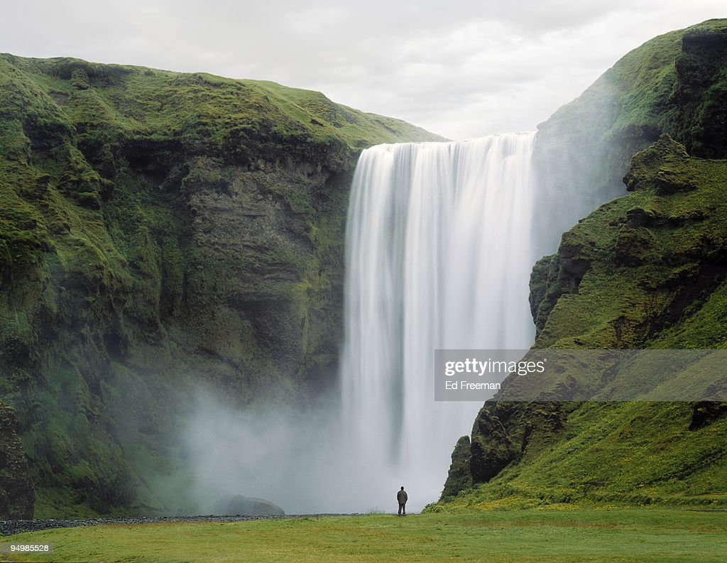 Skogafoss Waterfall, Iceland : Stock Photo
