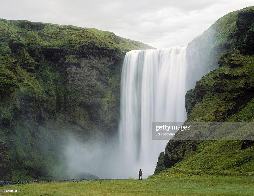 Skogafoss Waterfall, Iceland : Foto de stock