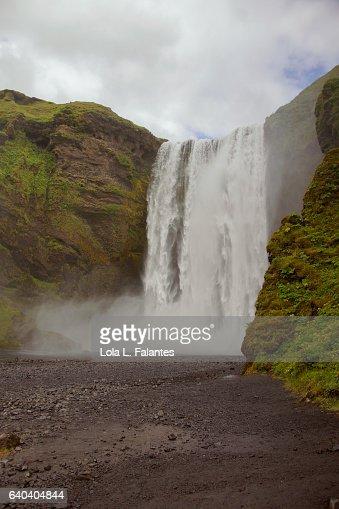 Skogafoss waterfall : Foto de stock