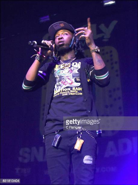 Skooly performs during the 'Pretty Girls Like Trap Music' tour at Fox Theater on August 14 2017 in Oakland California