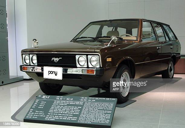 SKoreaautoHyundaidesignFEATURE by Simon Martin This picture taken on February 10 2012 at Hyundai Motor's museum at Namyang town in Hwaseong south of...
