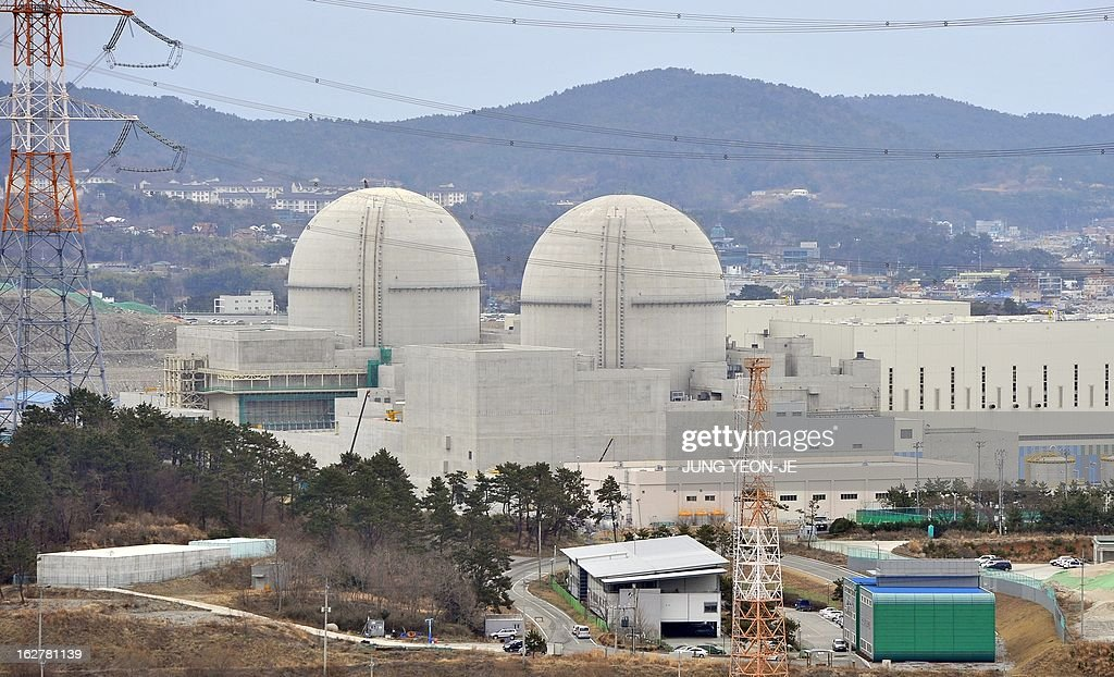 WITH 'SKorea-nuclear-energy,FOCUS' by Lim Chang-Won This photo taken on February 5, 2013 shows South Korea's nuclear power reactor under construction, Shin-Kori 3 and 4 called APR-1400, in Gori near the southern port of Busan. South Korea has big plans to become a major nuclear energy player, but they are unfolding at a time when the global industry is under intense scrutiny after the 2011 Fukushima disaster.