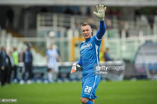 Skorupski Lukasz during the Italian Serie A football match Pescara vs Empoli on November 06 in Pescara Italy on November 06 in Pescara Italy