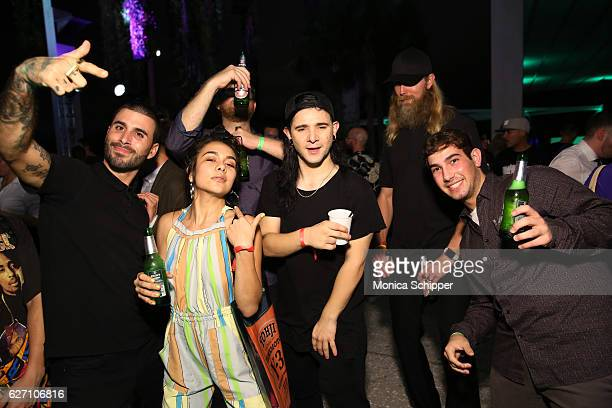 Skrillex and TYPOE attend PAMM Presents Cashmere Cat Jillionaire and Special Guest Uncle Luke on December 1 2016 in Miami Florida