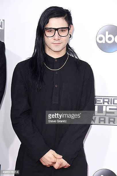 Skrillex attends the 2015 American Music Awards at Microsoft Theater on November 22 2015 in Los Angeles California