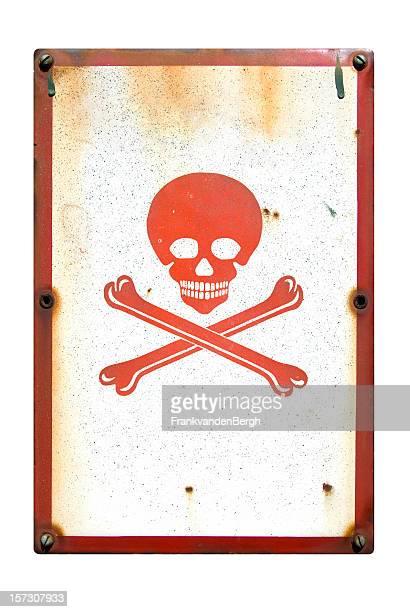 Signe de danger crâne et os