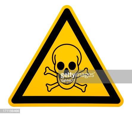 Skull and Crossbones Sign on White
