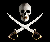 Skull and Crossed Swords, great Pirate Flag.