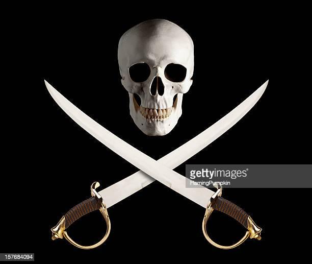 Motif de crâne et d'épées croisées, de Drapeau de Pirate.