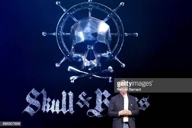 'Skull Bones' Creative Director Justin Farren speaks onstage during the Ubisoft E3 2017 conference at Orpheum Theatre on June 12 2017 in Los Angeles...