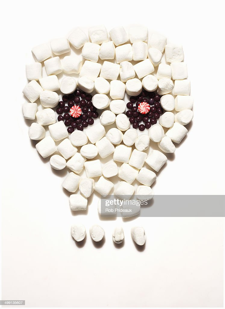 Skull created with candy