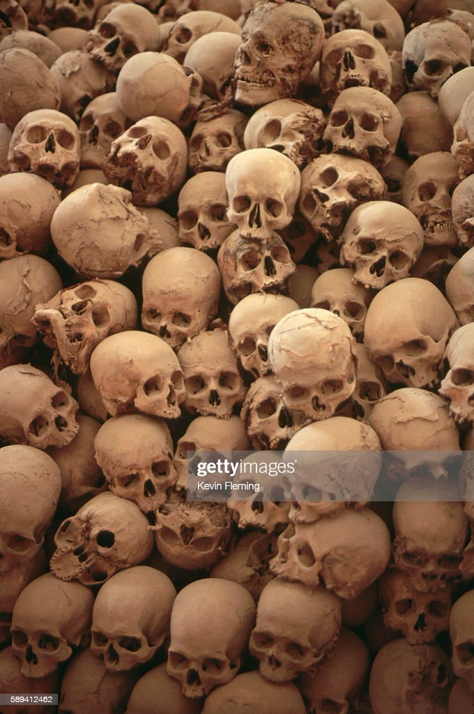 Skulls in the Charnel House of St. Catherine's Monastery