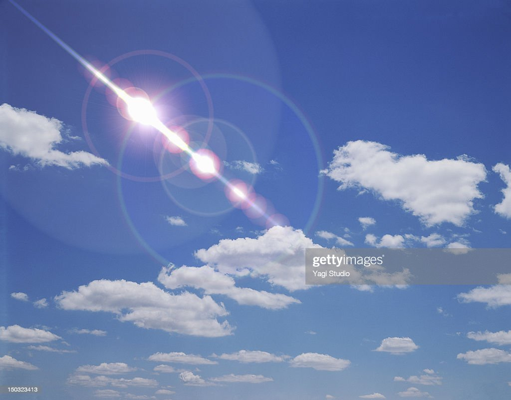 Sky and lens flare : Stock Photo