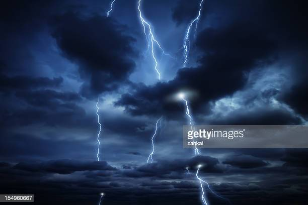 Sky and lightnings