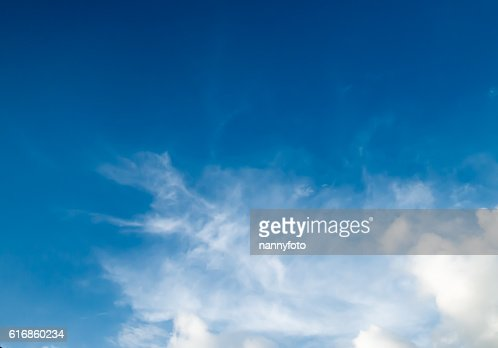 Sky and White cloud : Stock Photo