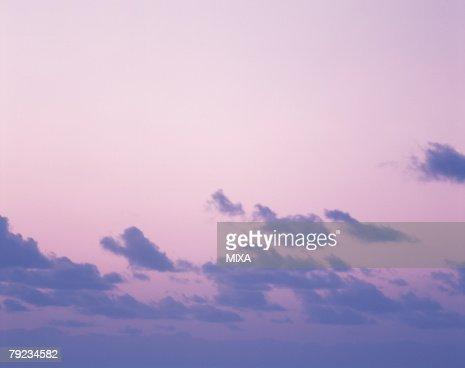 Sky at dusk in Tahiti : Stock Photo