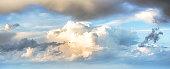 Sky clouds art sunrise background. Summer wallpaper