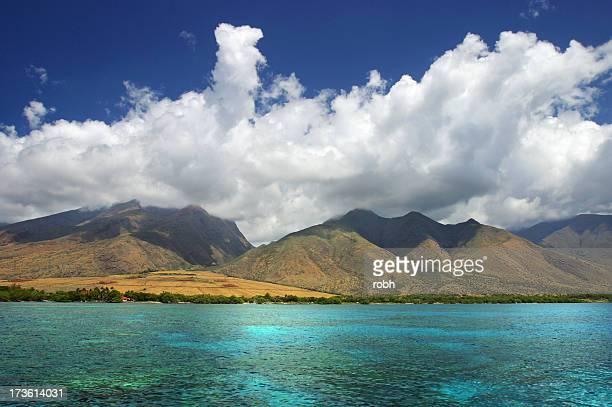 Sky, Clouds, Mountains, Ocean