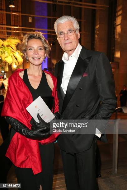 Sky Du Mont and Christine Schuetze during the Lola German Film Award after party at Palais am Funkturm on April 28 2017 in Berlin Germany