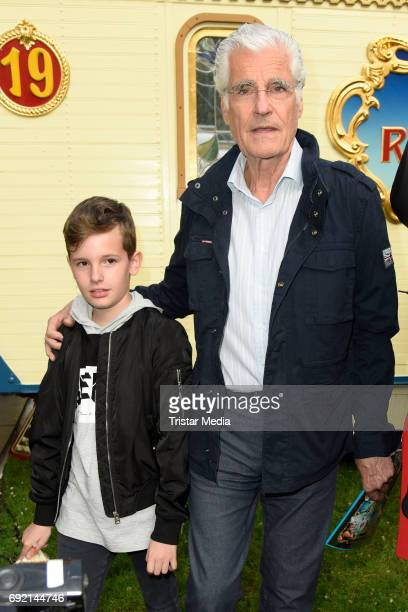 Sky du Mont and his son Fayn Neven du Mont during the Circus Roncalli Gala Premiere at Moorweide Park on June 3 2017 in Hamburg Germany