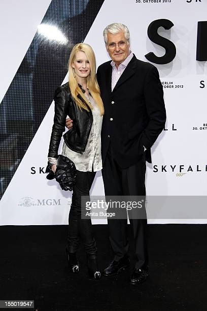 Sky Du Mont and Mirja Du Mont attend the 'Skyfall' Germany premiere at Theater am Potsdamer Platz on October 30 2012 in Berlin Germany