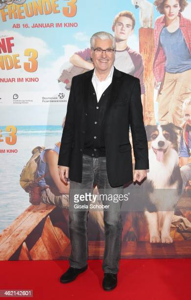 MUNICH GERMANY JANUARY Sky du Mont attends the premiere of the film 'Fuenf Freunde 3' at Cinemaxx on January 12 2014 in Munich Germany