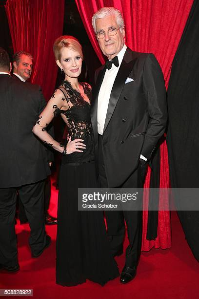 Sky DuMont and his wife Mirja DuMont during the Goldene Kamera 2016 reception on February 6 2016 in Hamburg Germany