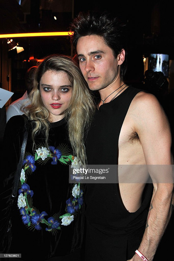 <a gi-track='captionPersonalityLinkClicked' href=/galleries/search?phrase=Sky+Ferreira&family=editorial&specificpeople=6740166 ng-click='$event.stopPropagation()'>Sky Ferreira</a> and <a gi-track='captionPersonalityLinkClicked' href=/galleries/search?phrase=Jared+Leto&family=editorial&specificpeople=214764 ng-click='$event.stopPropagation()'>Jared Leto</a> attend the Dw by Kanye West Ready to Wear Spring / Summer 2012 show during Paris Fashion Week at Lycee Henri IV on October 1, 2011 in Paris, France.