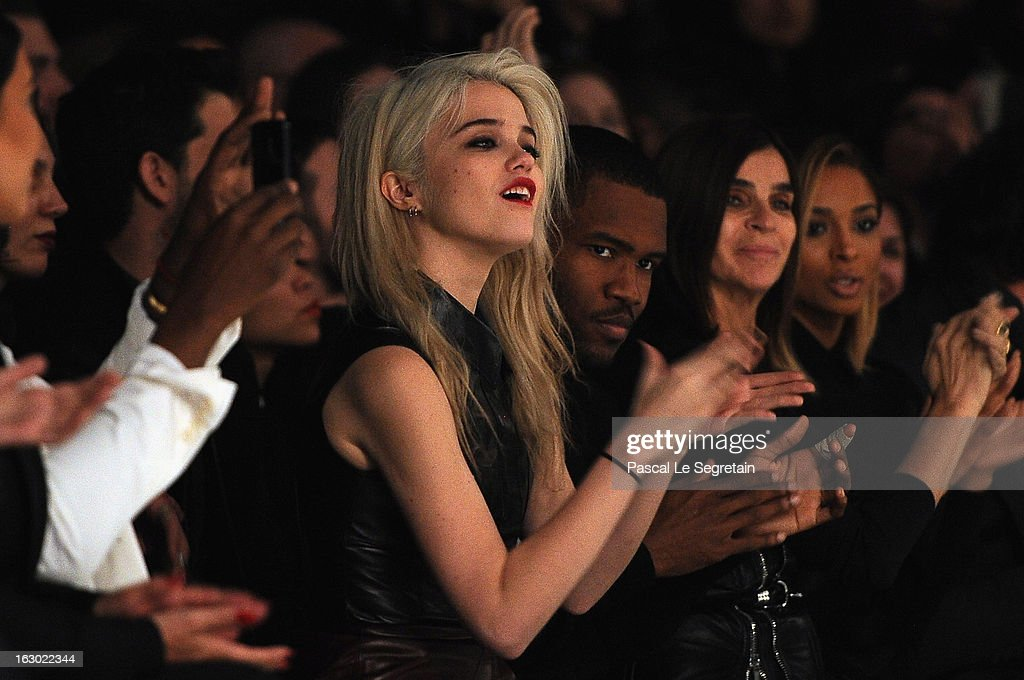 Sky Ferreira attends the Givenchy Fall/Winter 2013 Ready-to-Wear show as part of Paris Fashion Week on March 3, 2013 in Paris, France.
