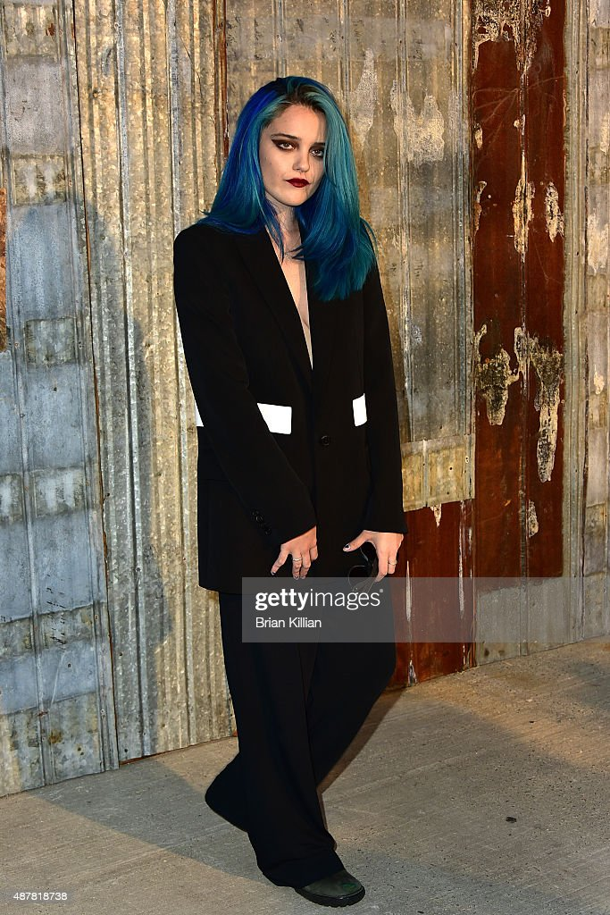 Sky Ferreira attends the Givenchy show during Spring 2016 New York Fashion Week at Pier 26 on September 11, 2015 in New York City.