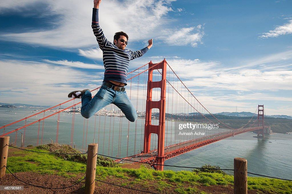 Sky high at the Golden Gate Bridge