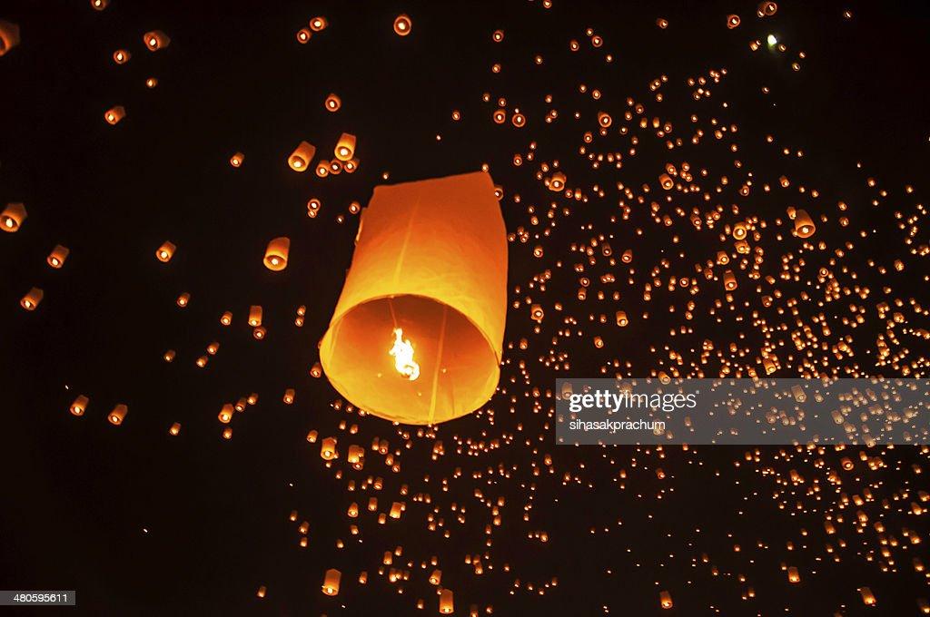 sky lanterns : Stock Photo