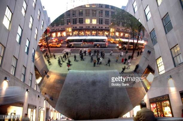 Sky Mirror 2006 Polished Stainless Steel at Rockefeller Center by Anish Kapoor