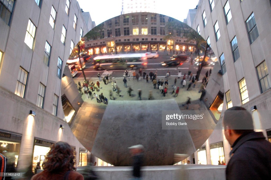 Sky Mirror 2006, Polished Stainless Steel at Rockefeller Center by <a gi-track='captionPersonalityLinkClicked' href=/galleries/search?phrase=Anish+Kapoor&family=editorial&specificpeople=3965986 ng-click='$event.stopPropagation()'>Anish Kapoor</a>