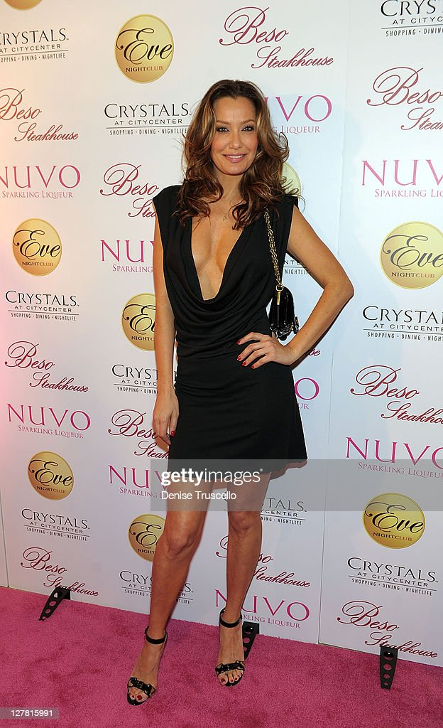 Eva Longoria Celebrates Birthday With NUVO At Beso Steakhouse And Eve Nightclub In Crystals At CityCenter