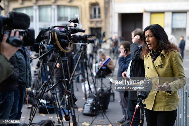 Sky News journalist reports outside the Bataclan theater after a terrorist attack on November 14 2015 in Paris France At least 120 people have been...