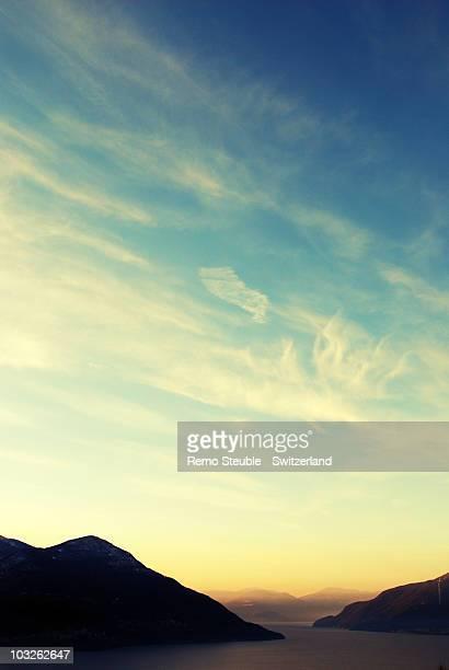 Sky over lago maggiore