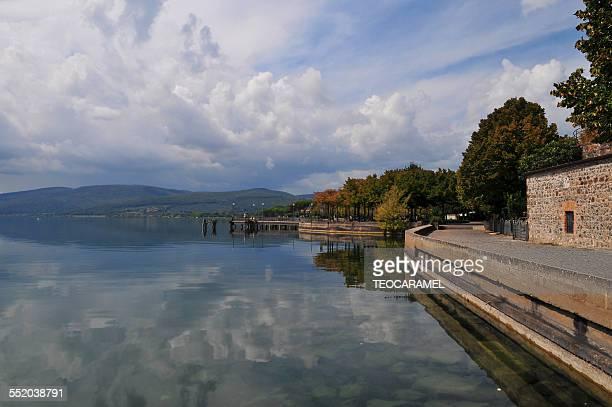 Sky reflection in Bracciano lake