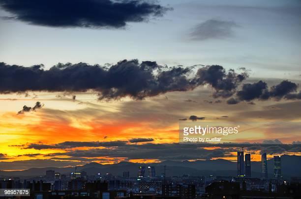 Sky revolution over Madrid