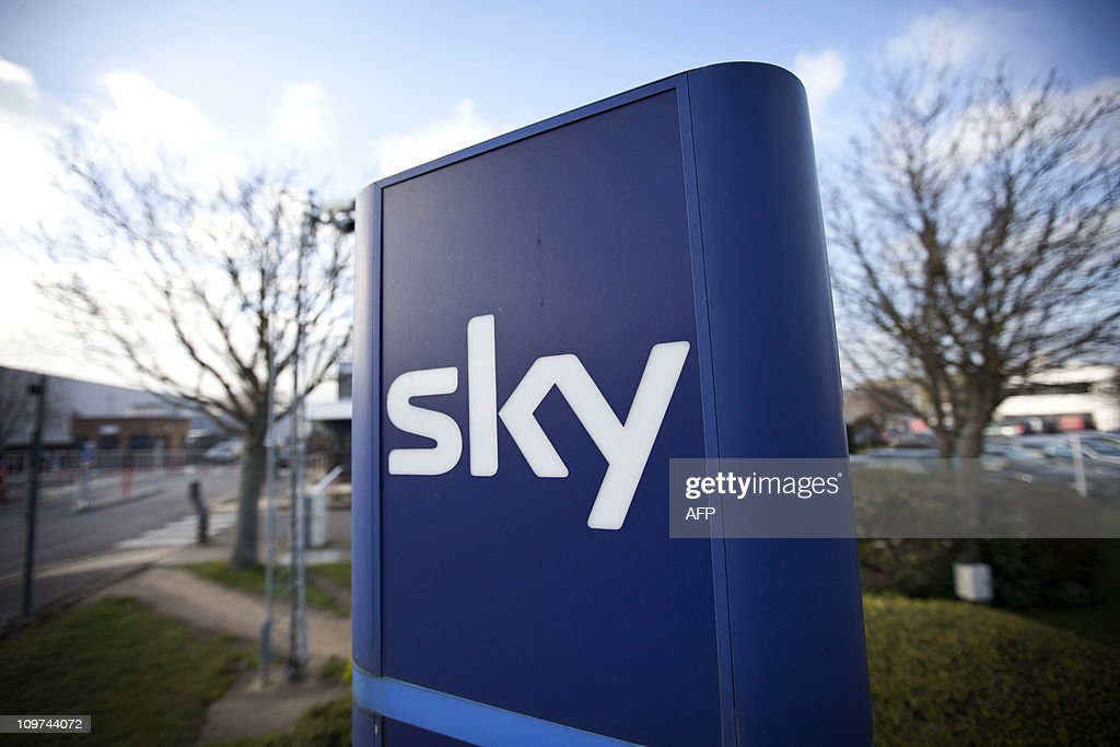 A Sky sign is pictured at the British Sky Broadcasting headquarters in west London, on March 3, 2011. The British government Thursday cleared the way to approve News Corp's bid to win control of broadcaster BSkyB after it agreed to spin off its Sky News operation to address competition concerns. The decision to allow the Rupert Murdoch-owned group to proceed sparked a furious response from rival media groups, who accused the government of a 'whitewash'. AFP PHOTO/Warren Allott