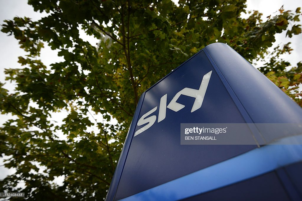 A Sky sign is pictured at the British Sky Broadcasting (BSkyB) headquarters in west London on September 20, 2012. Britain's media regulator on September 20 allowed pay-TV giant BSkyB to keep broadcasting, but blasted former boss James Murdoch for failing to uncover the hacking scandal at his father's empire.